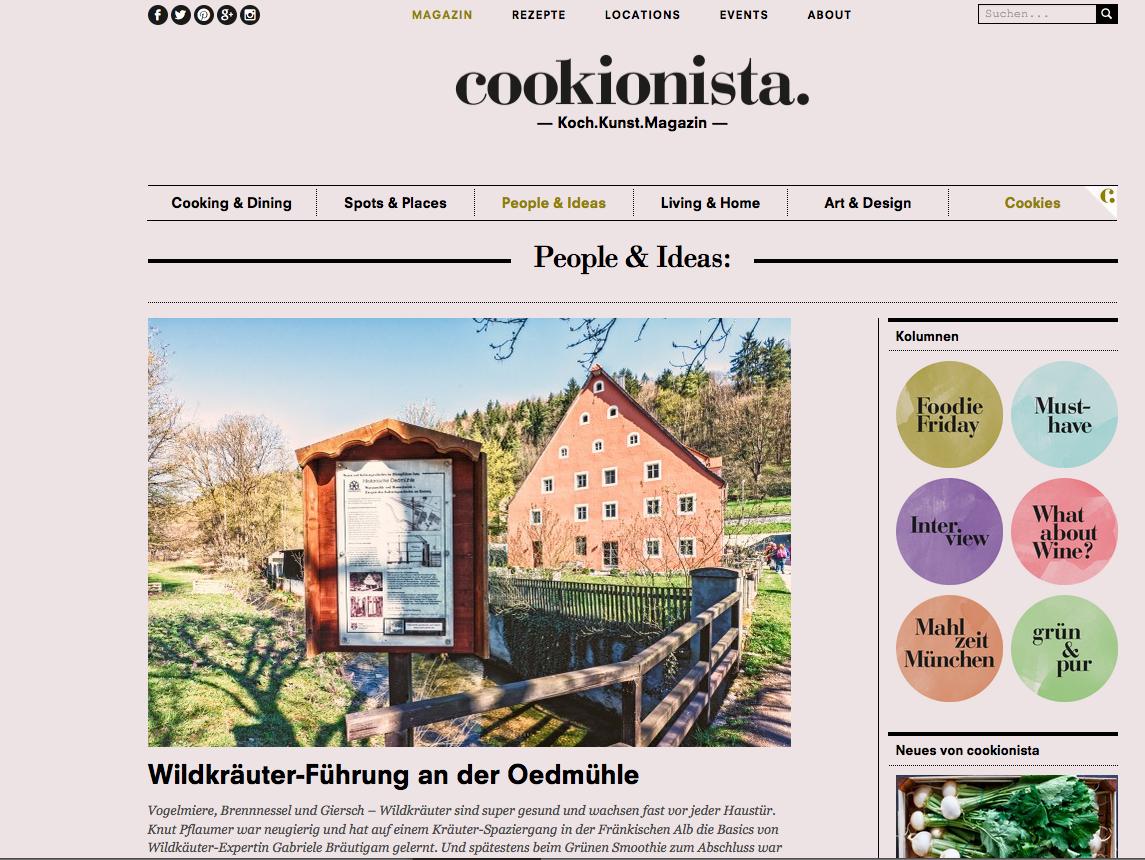 """Foodblog """"Cookionista"""" zu Gast in der Oedmühle bei Herbalista Gabriele Leonie Bräutigam"""